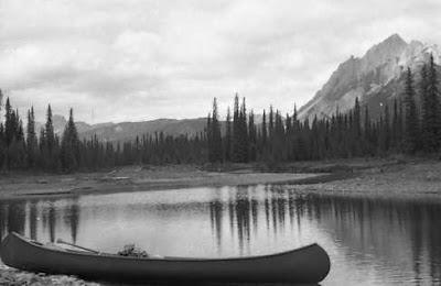 Canoe in backwater #26