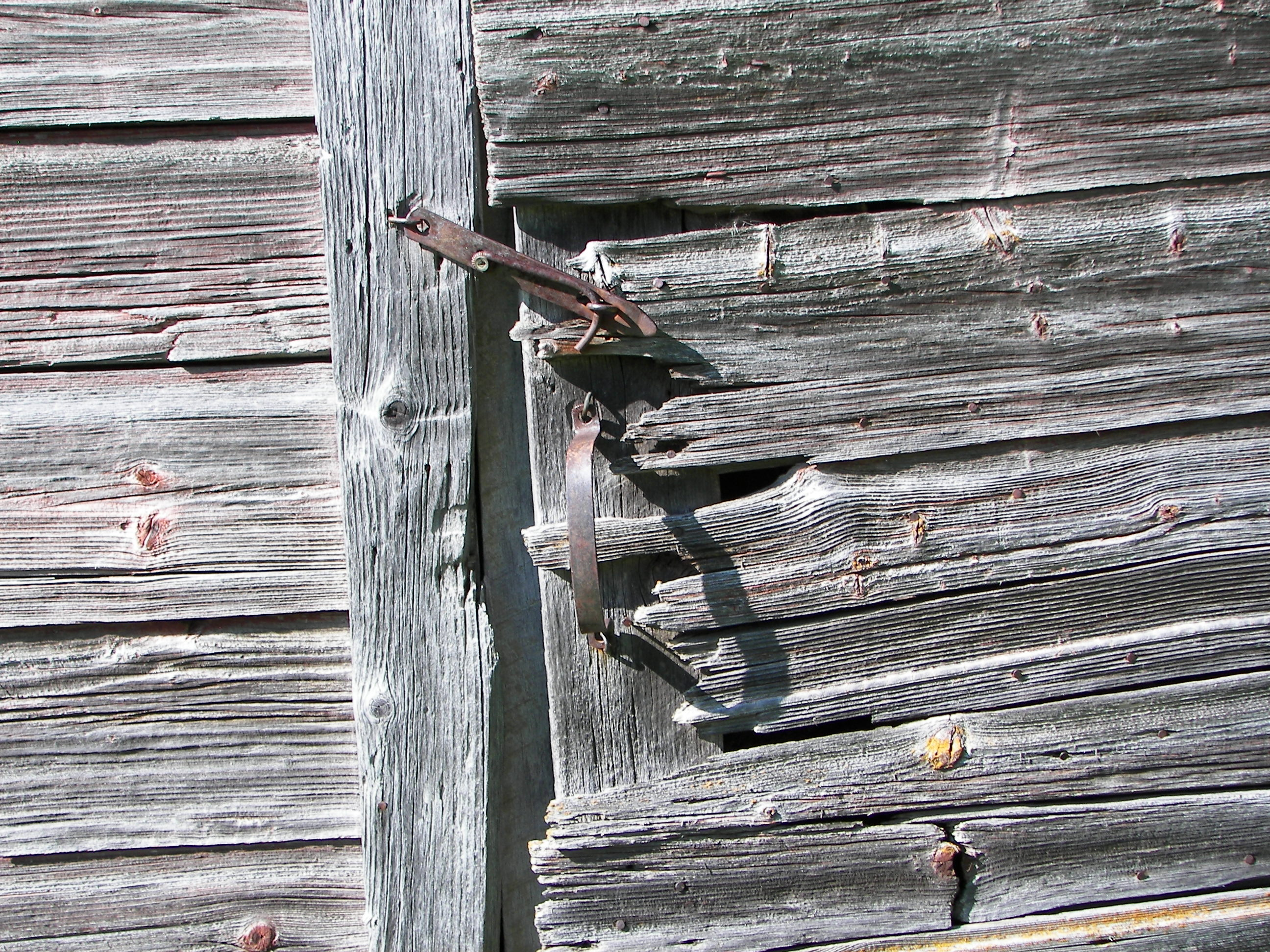 Weathered door & hardware
