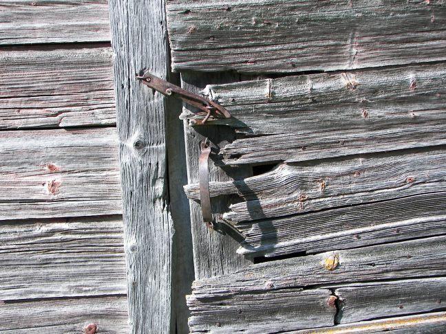 Weathered door & hardware